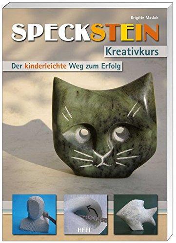 Speckstein-Set: Speckstein Kreativkurs. 4-teiliges Set mit Buch, Speckstein, Raspel und Polierwachs (Buch plus)