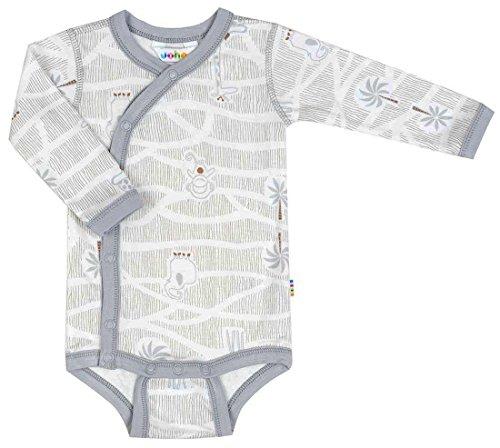 Babyprem Joha – Baby Jungle Cache-Coeur Body à manches longues en bambou gris - Gris - 40-44