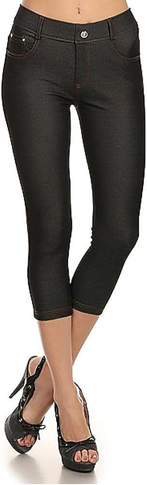 YELETE New Women's Stretchy Skinny Jeggings Shorts & Capri Pull On Style Trends SNJ