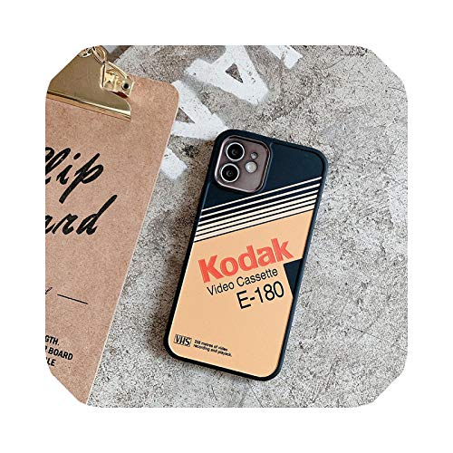 Japón Fuji Video Kodak caso para iPhone 12 mini 11 Pro X XS Max XR 7 8 Plus se2 moda suave TPU digital marca cubierta Fundas-2-para Iphone Xsmax