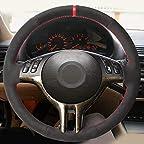 Funda negra para volante de coche para BMW M Sport M3 E90 E91 E92 E93 E87 E81 E82 E88 X1 E84
