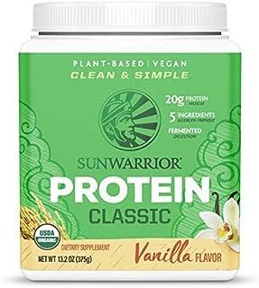 SUNWARRIOR Organic Classic Vanilla Protein, 375 GR