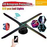 WXJHA Holograma 3D Proyector de luz Ventilador 56cm Wif Foto Video Aire holográfica de...