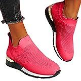 koperras Turnschuhe Frauen Mesh Sneaker Canvas Flache Schuhe+Leicht Atmungsaktive Sommer Herbst Beiläufige Sportschuhe +Lässige Mode Casual Joggingschuhe Sportstrick-Sneaker