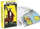 FFJD Tarot Cartas Rider Tarot Cards Deck Board Game Cards con Pdf Guidebook Portable para Entretenimiento En Fiestas Familiares
