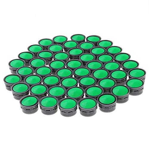50 Ahorro de agua Aireado de grifo Hilo Femenino Dispositivo Faucet Difusor Cuarto de baño Cocina Grifo Boquilla Filtro Filtro Agua Burbuja Adaptador (Color : Grey Green)