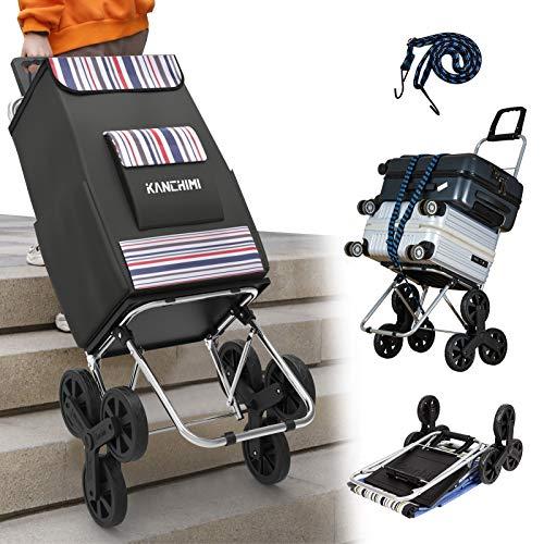 Kanchimi Shopping Cart with Wheels,220 lbs Heavy...