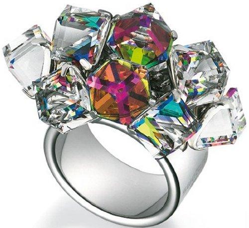 Swatch bijoux Love Explosion Ring mit Kristallwürfel, Gr. 7 JRD022-7