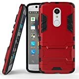 ZTE Axon 7 Mini Case,Gift_Source [Kickstand] Hybrid Dual Layer Armor Defender Full Body Protective Case Soft TPU and Hard PC Rugged Case Shockproof Cover for ZTE Axon 7 Mini [Red]