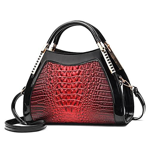 N\C Crocodile Leather Large-Capacity Handbag Fashion Simple and Versatile Shoulder Bag