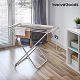 InnovaGoods stendibiancheria Elettrico Pieghevole, Alluminio E ABS, Grigio, 94x 79x 51cm