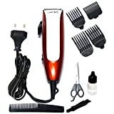 Gemei GM-1011 Professional Hair Clipper with Ergonomically Shaped Body & Powerful Motor, White