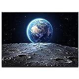 キャンバス絵画プリント風景モジュラ写真枠の油絵の油絵家の壁の絵の装飾宇宙地球惑星ポスターキャンバス絵画(サイズ(インチ):80x120cm)