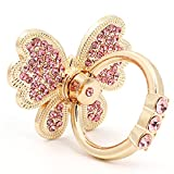 Butterfly Phone Ring Holder Stand Finger Kickstand with Glittering Rhinestones 360° Rotation Universal Finger Ring Phone Grip Compatible with All Smartphone