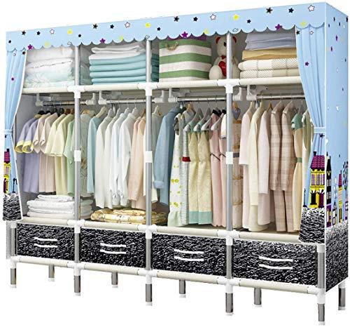 Armari Paño Organizador for el Dormitorio, tubería de Acero estantes portátiles Gabinete de Tela Organizador del almacenaje for los Zapatos Sombreros y Las Bufandas Liuyu.