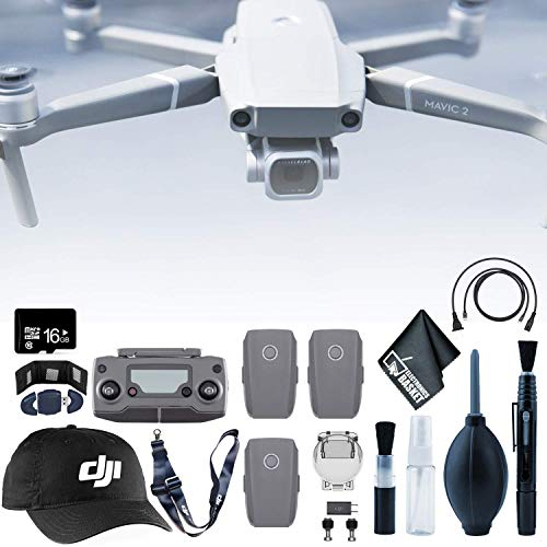 Learn More About DJI Mavic 2 Pro Drone + Mavic 2 Batteries (3 Total) + 16GB microSD + Baseball Cap &...