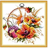Embroidery starter kit with pattern Embroidery kit various sewing kit tapestry embroidery set 40x40 cm embroidery set Including multi-thread cotton thread [] Bordado con aguja 5D HD cod.024