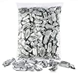 Silver Foils Chewy Taffy Candy, 1-Pound Bag of Silver Color Themed Kosher Candies Individually Wrapped Pineapple Fruit-Flavored Taffies (NET WT 454g, About 63 Pieces) Product Name