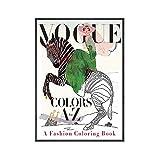 Cuadros De Arte De Pared Cuadros Vintage Vogue Figura Citas Póster E Impresiones Lienzo Pintura Muje...