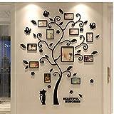 ST4U Árbol 3D de la Etiqueta engomada de acrílico álbum de Fotos para Etiqueta de la Pared Forma del árbol de Vinilo Decorativo Decoración Cartel de la Pared Que cuelga Negro
