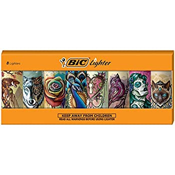 BIC Special Edition Tattoos Series Lighters Set of 8 Lighters