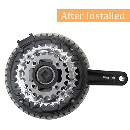 Kettenschutzscheibe Kunststoff Kettenrad Kurbel Abdeckung schwarz für Mountainbike Fahrrad - 5