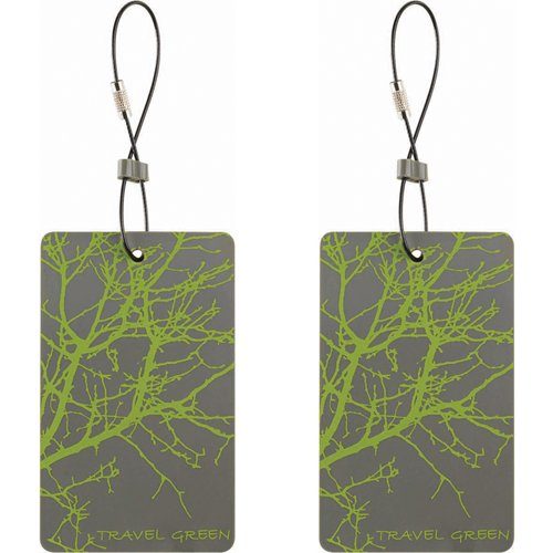 Lewis N. Clark Travel Green 2-Pack Luggage Tags, Green