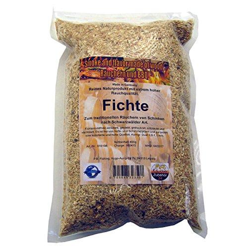 Räuchermehl Fichte, 400g Räucherspäne vom Fichtenholz, Dust, Korngröße 0-2 mm