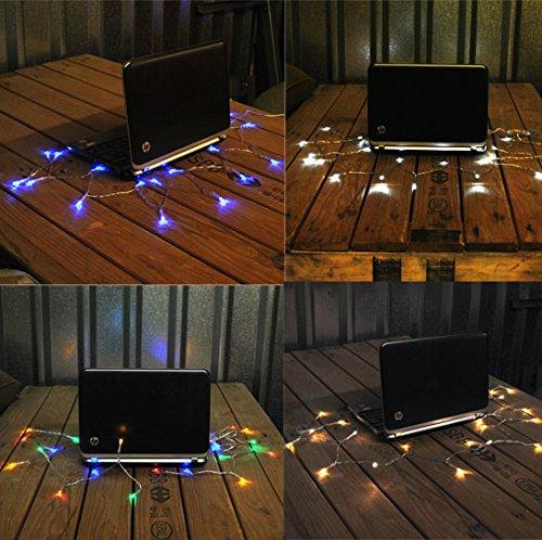 LightsGo® USB Powered Guirlande Lumineuse, Blanc Chaud, 50 LED 3m