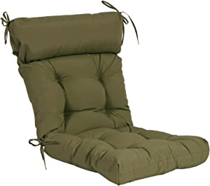 QILLOWAY Indoor/Outdoor High Back Chair Cushion ,Spring/Summer Seasonal Replacement Cushions.(Sage)