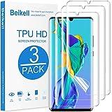 Beikell Pellicola Protettiva per Huawei P30 PRO, [3 Pezzi] Protezione Schermo in TPU Compatibile con Huawei P30 PRO - Copertura Completa, HD Trasparenza, Caso-Friendly