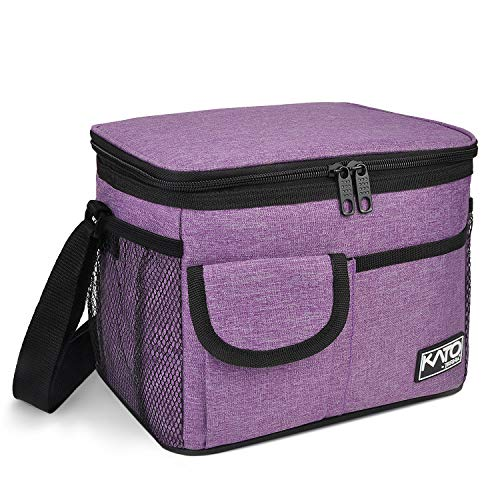 Insulated Lunch Box for Women Men, Leakproof Thermal Reusable Lunch Bag with 4 Pockets for Adult & Kids, Lunch Bag Cooler Tote for Office Work by Tirrinia, Purple