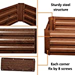 Leisurelife Metal Raised Garden Bed Planter Box Kits for Vegetables Outdoor, Steel, 2x2 ft, Brown 9 【Raised Garden Bed Size】:8x4 ft, height 1ft. No bottom 【Material】: The planter box made of color steel, waterproof and anti-rust, can be used for 10 years. 【Open-bottom】: Integrating with nature, there is no trouble with standing water.