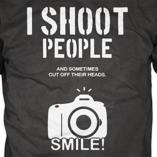 Womens Photographer Top I Shoot People Funny Pun TShirt Photography Gift for Her