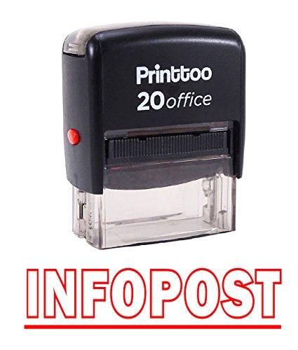 Printtoo INFOPOST Selbstfärber Stempel Büro stationär Bedrucktes Stamp-Rot
