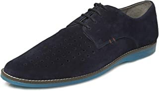 TONI ROSSI Men's Walter Blue Leather Formal Shoes