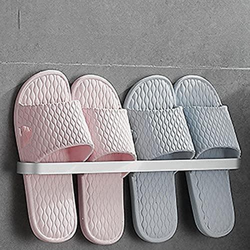 Vägghylla för skor skor fällbara skor förvaringsställ med spårställ för hängande skor badrumsarrangör Matt 40cm