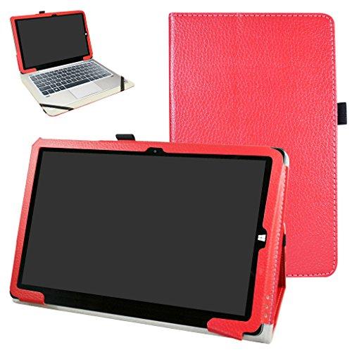Mama Mouth Chuwi hi10 Pro / hi10 Funda, Slim PU Cuero con Soporte Funda Caso Case para 10.1' Chuwi hibook hi10 Pro/hibook hi10 Windows + Android Dual OS Tablet PC 2016,Rojo