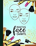 Practice Face Charts: Blank Face Charts for Makeup Artists Portfolio Book