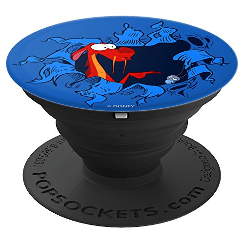 Disney Mulan Mushu & Cri-Kee Popping Out Of Hole PopSockets Grip and Stand for Phones and Tablets