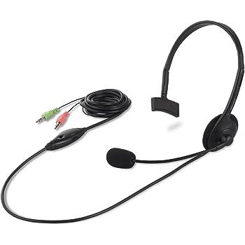 iBUFFALO 片耳ヘッドバンド式ヘッドセット ブラック BSHSH05BK