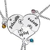 GYKMDF Collar de 3 Mejores Amigos, Collar de 3 Hermanas, 3 Piezas de Puzzle Corazón, Tres Mejores Amigos, Collar de Hermana