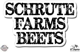 GT Graphics Schrute Farms Beets The Office - Vinyl Sticker Waterproof Decal