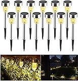 Solar Garden Lights Outdoor, Xndryan 12 Pack...