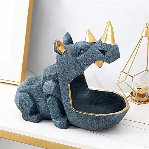 Escultura Acento Estatua 3D Accesorios de decoración del hogar Escultura Estatuilla Escritorio en Miniatura Caja de Almacenamiento Sala de Estar Decoración de Mesa Estatua de Mesa (Color:6)