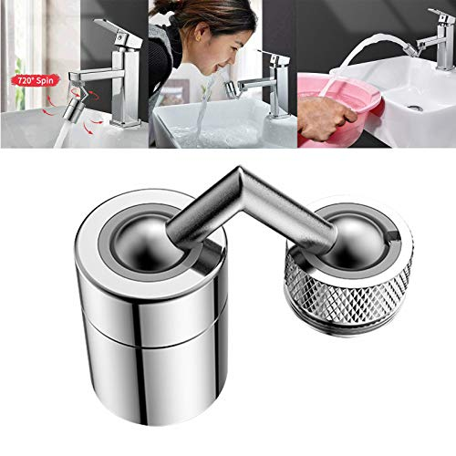 Universal Splash Filter Faucet 720°Rotate Water Outlet Faucet,Moveable Kitchen Tap Spray Head With Filter (1)