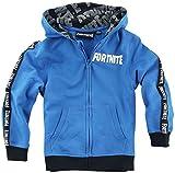Fortnite Logo Niño Chaqueta con Capucha Azul 140, 80% algodón, 20% poliéster,