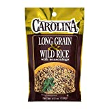 Carolina Long Grain & Wild Rice with Seasoning 4.5 Ounces Bag (Pack of 3)