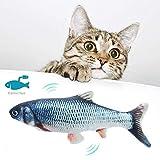 T.Face Elektrische Fische Katze,Elektrische Fisch katzenspielzeug, USB Elektrische Plüsch Fisch Kicker Katzenspielzeug mit Katzenminze für Katze und Kätzchen, Interaktive Katzenspielzeug zu Spielen