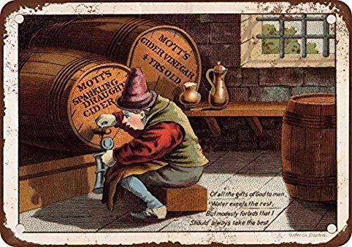 Mott's Sparkling Cider Cider Vinegar Blechschild Retro Blech Metall Schilder Poster Deko Vintage Kunst Türschilder Schild Warnung Hof Garten Cafe Toilette Club Geschenk
